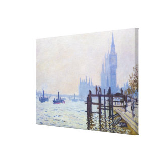 The Thames at Westminster Claude Monet Canvas Print