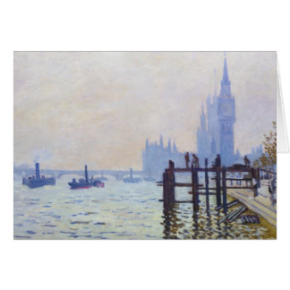 The Thames at Westminster Claude Monet Card