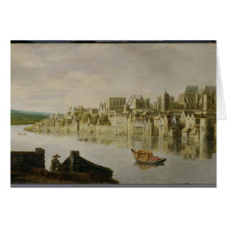The Thames at Westminster Stairs, c.1630 (oil on p Card