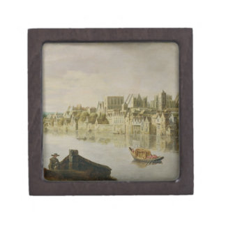 The Thames at Westminster Stairs, c.1630 (oil on p Jewelry Box
