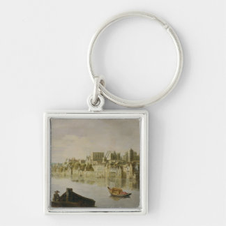 The Thames at Westminster Stairs, c.1630 (oil on p Keychain