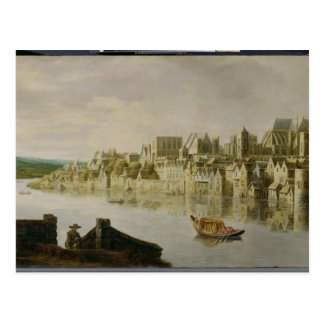 The Thames at Westminster Stairs, c.1630 (oil on p Postcard
