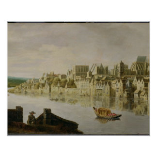 The Thames at Westminster Stairs, c.1630 (oil on p Poster