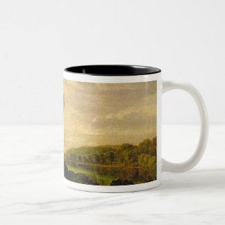The Thames at Weybridge, c.1807-10 Two-Tone Coffee Mug