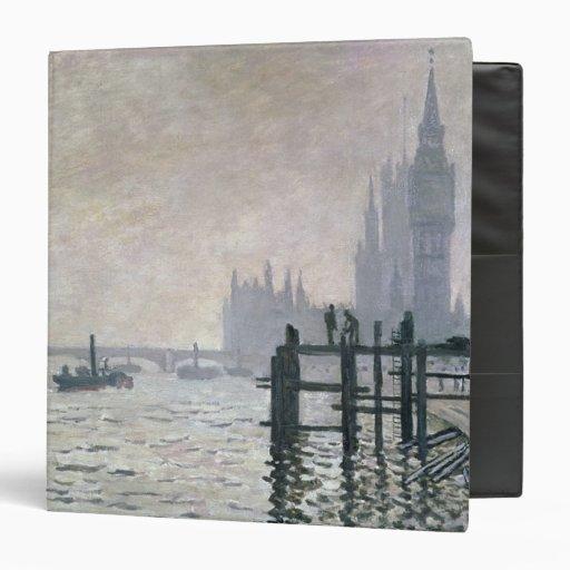 The Thames below Westminster, 1871 3 Ring Binder