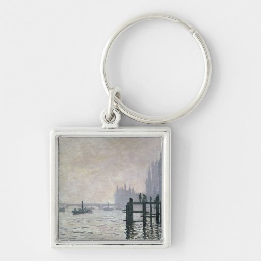 The Thames below Westminster, 1871 Keychain