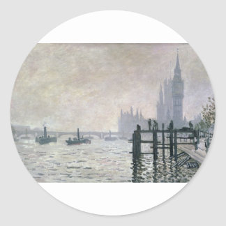 The Thames below Westminster (1871) Stickers