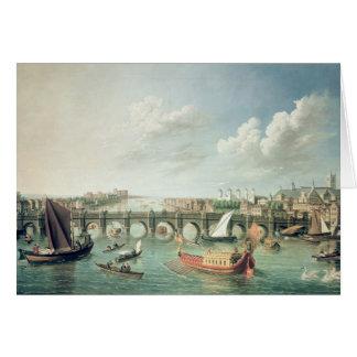 The Thames below Westminster Bridge Card