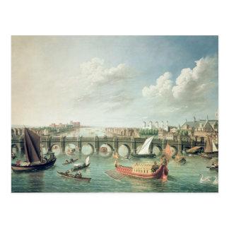 The Thames below Westminster Bridge Postcards