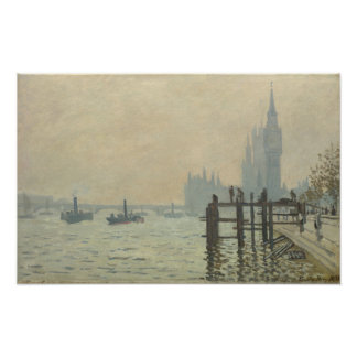 The Thames Below Westminster by Claude Monet Poster
