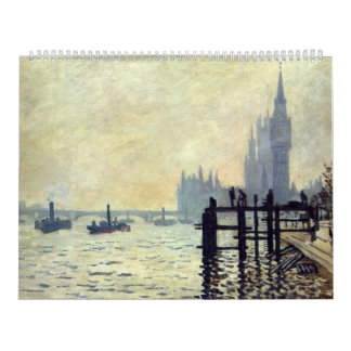 The Thames below Westminster - Claude Monet Calendar