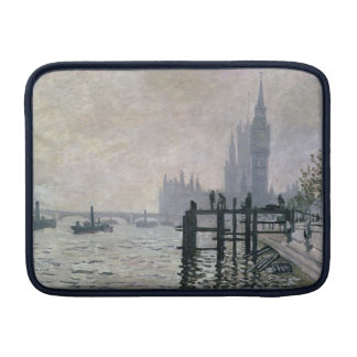 The Thames below Westminster - Claude Monet Sleeve For MacBook Air