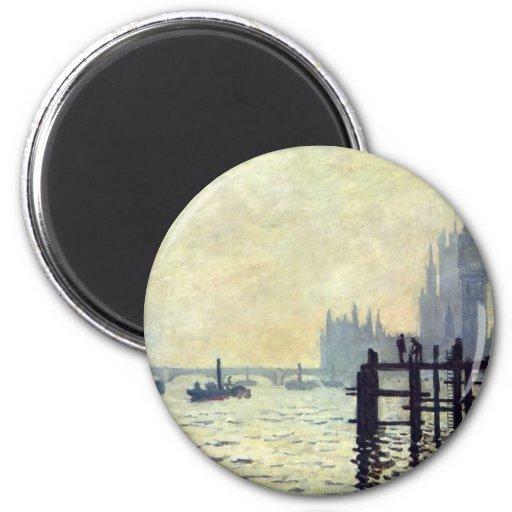 The Thames below Westminster - Claude Monet Fridge Magnets
