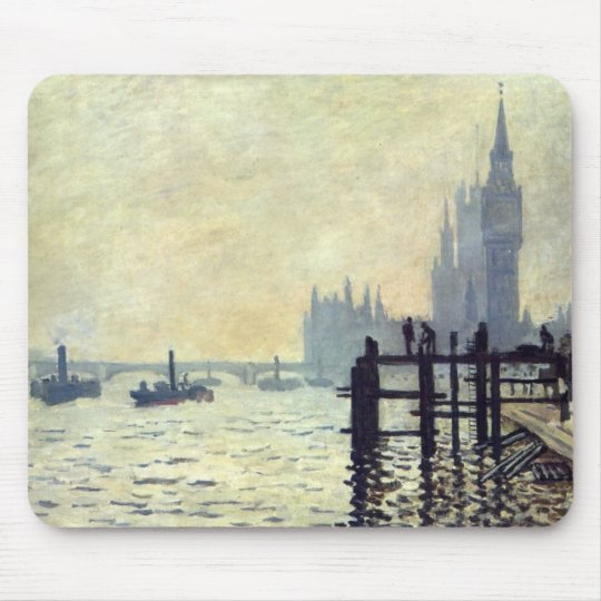 The Thames below Westminster - Claude Monet Mouse Pad