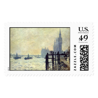 The Thames below Westminster - Claude Monet Postage