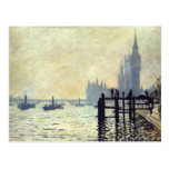The Thames below Westminster - Claude Monet Postcard