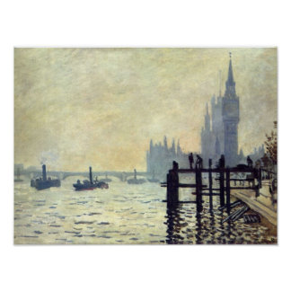 The Thames below Westminster - Claude Monet Poster