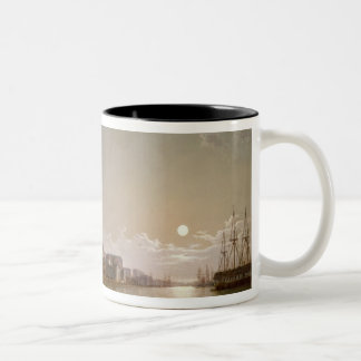 The Thames by Moonlight with Traitors' Gate Two-Tone Coffee Mug