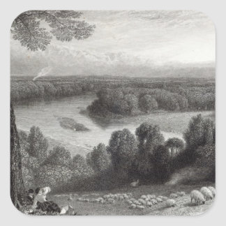 The Thames from Richmond Hill Stickers