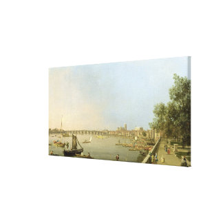 The Thames from the Terrace of Somerset House, loo Canvas Print