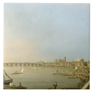 The Thames from the Terrace of Somerset House, loo Ceramic Tile