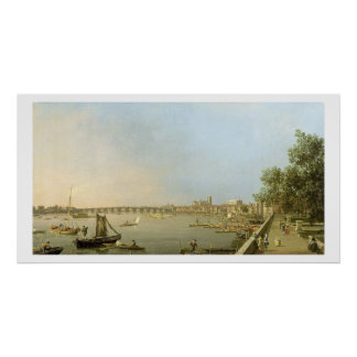 The Thames from the Terrace of Somerset House, loo Poster