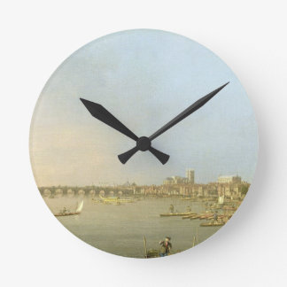 The Thames from the Terrace of Somerset House, loo Round Wall Clocks