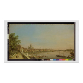 The Thames from the Terrace of Somerset House Look Poster