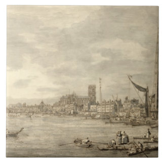 The Thames Looking towards Westminster from near Y Ceramic Tile