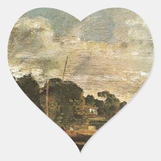 The Thames near Walton Bridges by William Turner Heart Sticker