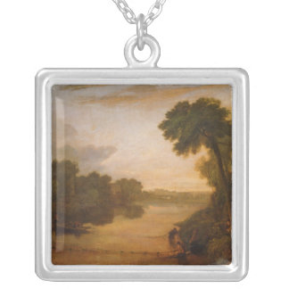 The Thames near Windsor, c.1807 Silver Plated Necklace
