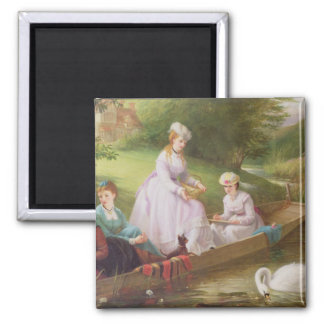 The Thames Swans 2 Inch Square Magnet