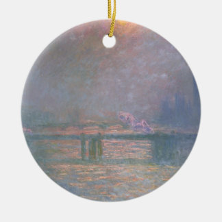 The Thames with Charing Cross bridge, 1903 (oil on Ceramic Ornament