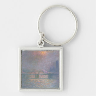 The Thames with Charing Cross bridge, 1903 (oil on Key Chain