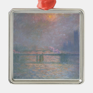 The Thames with Charing Cross bridge, 1903 (oil on Metal Ornament