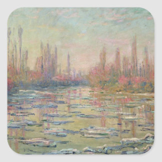 The Thaw on the Seine, near Vetheuil, 1880 Square Sticker