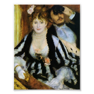 The Theater Box by Renoir Poster