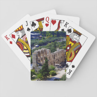 The theater built by the Roman Emperor Herod Attic Poker Deck