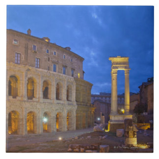 The Theater of Marcellus in Rome at night Ceramic Tile