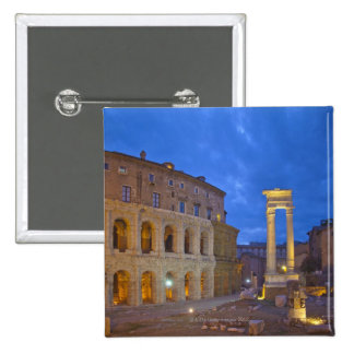 The Theater of Marcellus in Rome at night Pinback Button