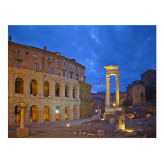 The Theater of Marcellus in Rome at night Postcard