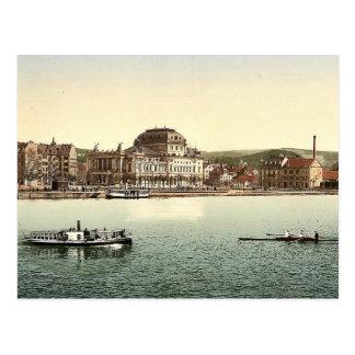 The theatre and Utoquay, Zurich, Switzerland class Postcard