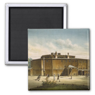 The theatre at Dresden 2 Inch Square Magnet