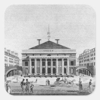 The Theatre de l'Odeon, 1830 Square Sticker