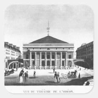 The Theatre de l'Odeon, c.1830 Square Sticker