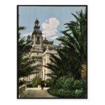 The theatre, Monte Carlo, Riviera classic Photochr Postcard