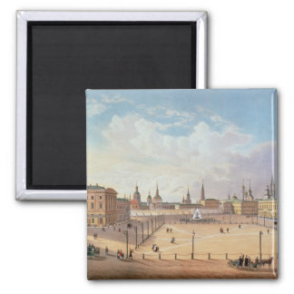 The Theatre Square in Moscow 2 Inch Square Magnet