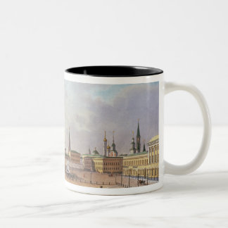 The Theatre Square in Moscow Two-Tone Coffee Mug