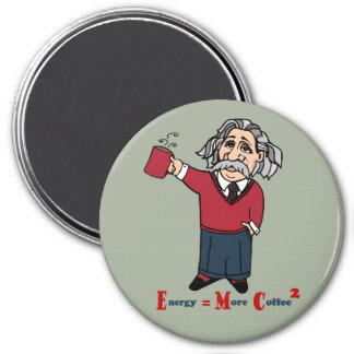 The Theory of Relativity 3 Inch Round Magnet