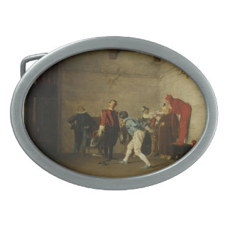 The Thespians by Jean Georges Vibert Belt Buckle